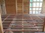 床梁も綺麗に組み合わさりました。