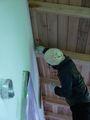 外壁の塗り壁ワークショップも開催。